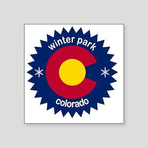 """winter park Square Sticker 3"""" x 3"""""""