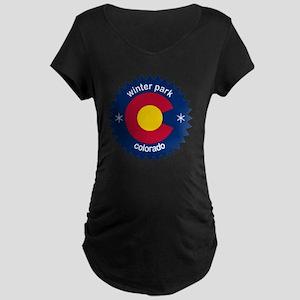 winter park Maternity Dark T-Shirt