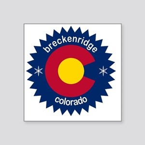 """breckenridge3 Square Sticker 3"""" x 3"""""""