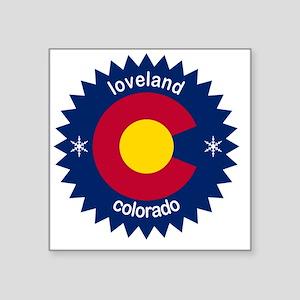"Loveland Square Sticker 3"" x 3"""