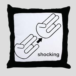 shocking shirt Throw Pillow