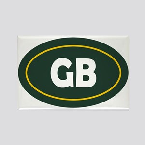 Green Bay Oval Rectangle Magnet