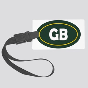 Green Bay Oval Large Luggage Tag