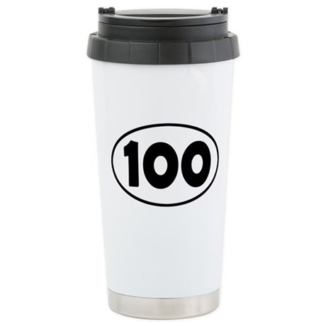 100k Oval Stainless Steel Travel Mug