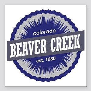 "Beaver Creek Square Car Magnet 3"" x 3"""