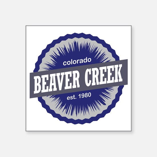 "Beaver Creek Square Sticker 3"" x 3"""