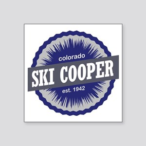 "Ski Cooper Square Sticker 3"" x 3"""