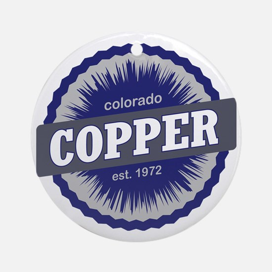 Copper Mountain Ski Resort Colorado Round Ornament