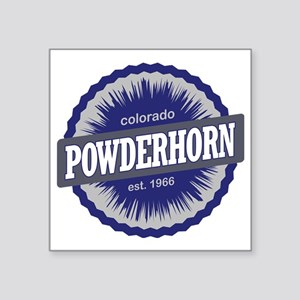"Powderhorn Ski Resort Color Square Sticker 3"" x 3"""
