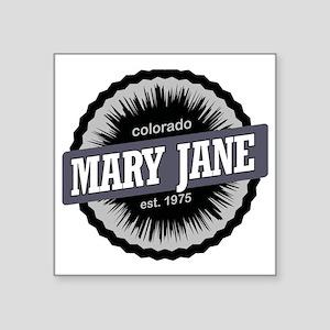 "Mary Jane Ski Resort Colora Square Sticker 3"" x 3"""