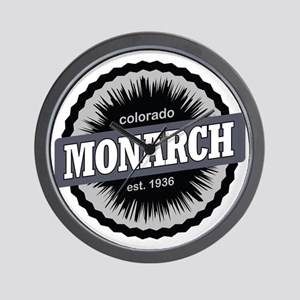 Monarch Ski Resort Colorado Black Wall Clock