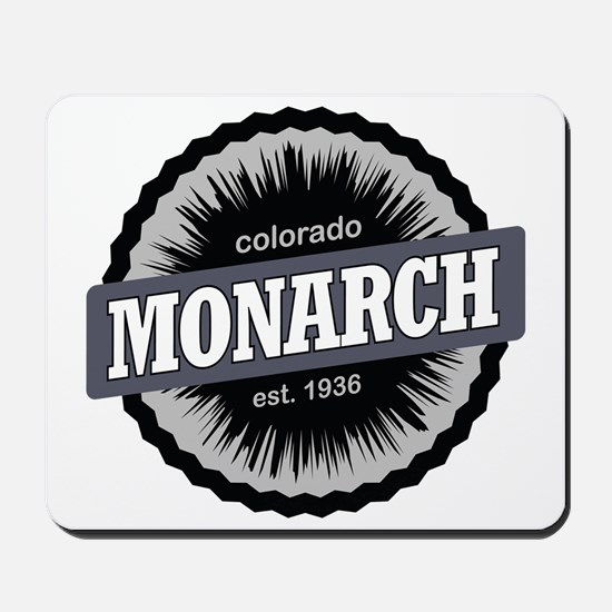 Monarch Ski Resort Colorado Black Mousepad