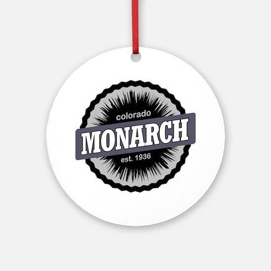 Monarch Ski Resort Colorado Black Round Ornament