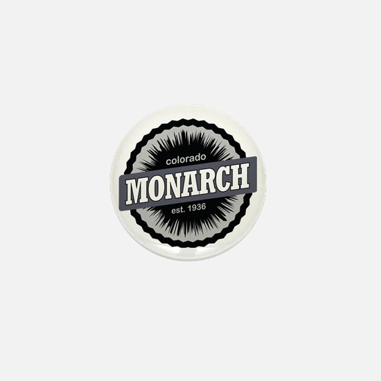 Monarch Ski Resort Colorado Black Mini Button