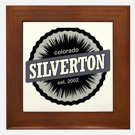 Silverton Ski Resort Colorado Black Framed Tile