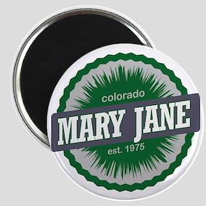 Mary Jane Ski Resort Colorado Green Magnet
