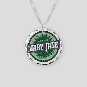 Mary Jane Ski Resort Colorad Necklace Circle Charm