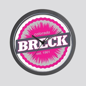 Breckenridge Ski Resort Colorado Pink Wall Clock