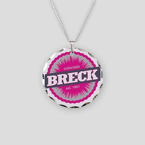 Breckenridge Ski Resort Colo Necklace Circle Charm