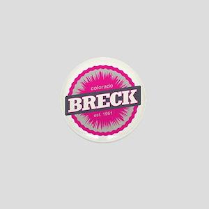 Breckenridge Ski Resort Colorado Pink Mini Button
