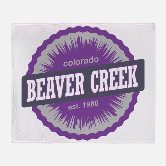 Beaver Creek Ski Resort Colorado Pur Throw Blanket