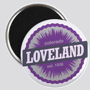 Loveland Ski Resort Colorado Purple Magnet