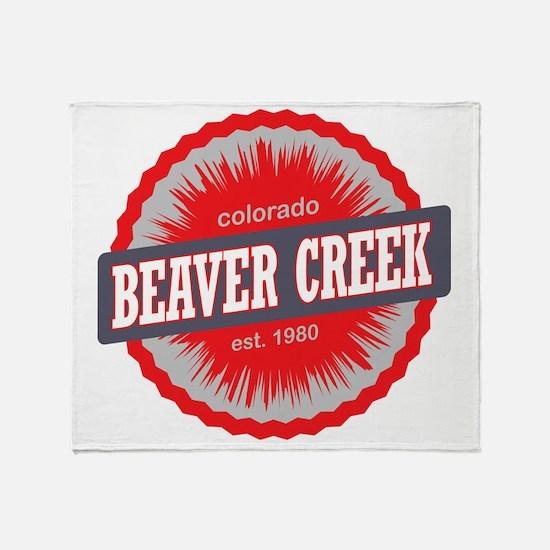 Beaver Creek Ski Resort Colorado Red Throw Blanket