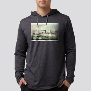 Steamer Penobscot - 1883 Mens Hooded Shirt