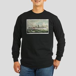 Steamer Penobscot - 1883 Long Sleeve Dark T-Shirt