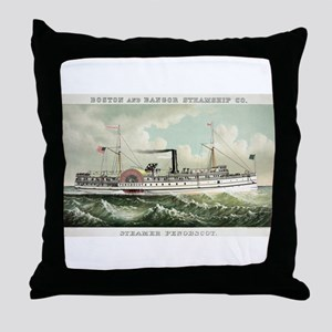 Steamer Penobscot - 1883 Throw Pillow