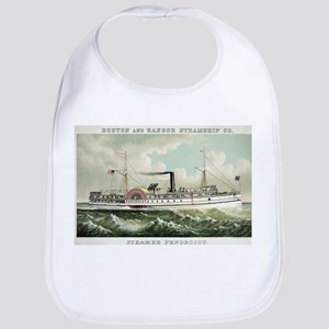 Steamer Penobscot - 1883 Cotton Baby Bib