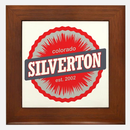 Silverton Ski Resort Colorado Red Framed Tile
