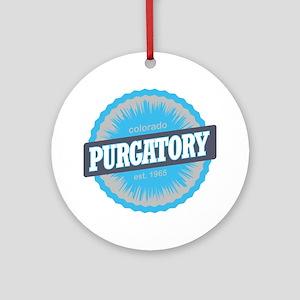 Purgatory Ski Resort Colorado Sky B Round Ornament