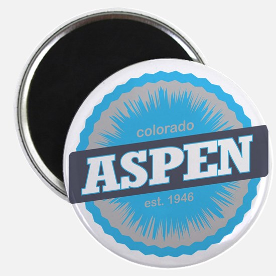 Aspen Ski Resort Colorado Sky Blue Magnet