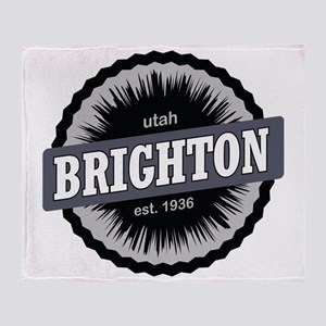 Brighton Ski Resort Utah Black Throw Blanket