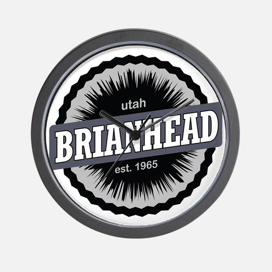 Brian Head Ski Resort Utah Black Wall Clock