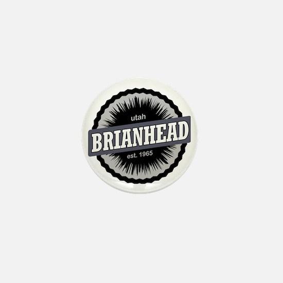 Brian Head Ski Resort Utah Black Mini Button