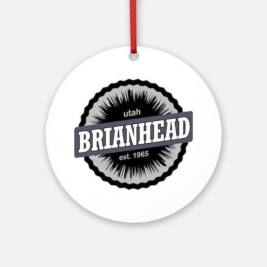 Brian Head Ski Resort Utah Black Round Ornament