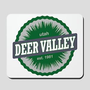 Deer Valley Ski Resort Utah Green Mousepad