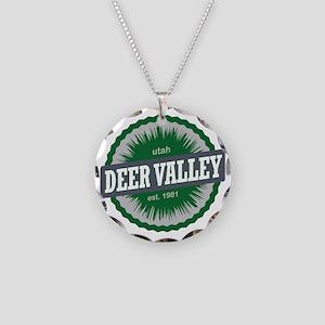 Deer Valley Ski Resort Utah  Necklace Circle Charm