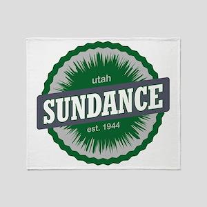 Sundance Ski Resort Utah Green Throw Blanket