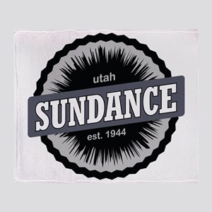 Sundance Ski Resort Utah Black Throw Blanket