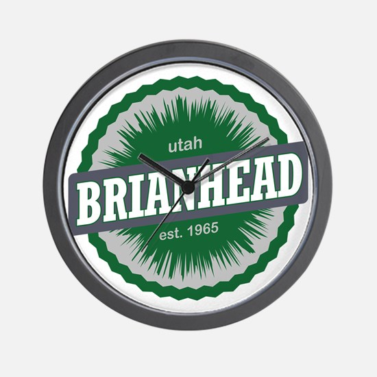 Brian Head Ski Resort Utah Green Wall Clock
