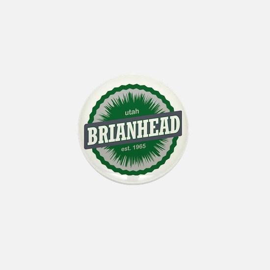 Brian Head Ski Resort Utah Green Mini Button