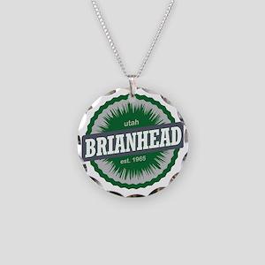 Brian Head Ski Resort Utah G Necklace Circle Charm