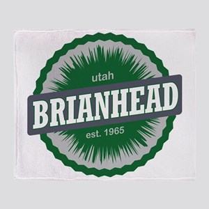 Brian Head Ski Resort Utah Green Throw Blanket