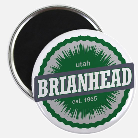 Brian Head Ski Resort Utah Green Magnet