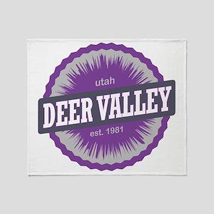 Deer Valley Ski Resort Utah Purple Throw Blanket