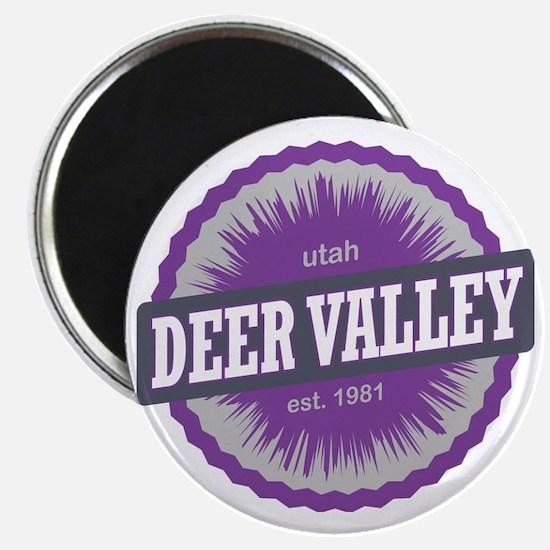 Deer Valley Ski Resort Utah Purple Magnet