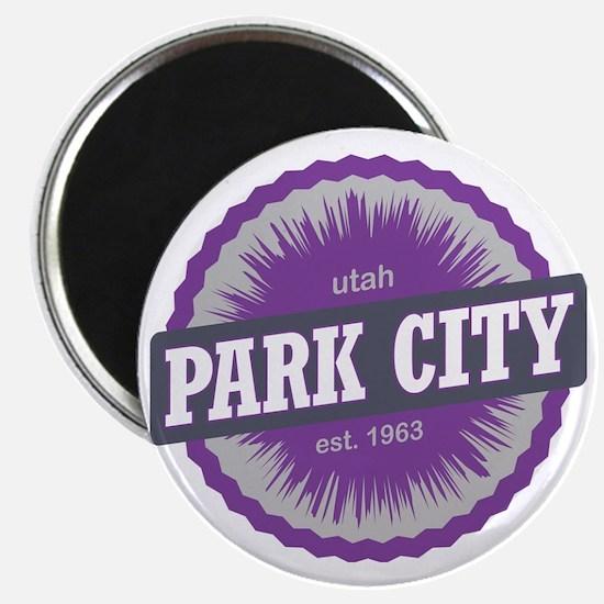 Park City Mountain Ski Resort Utah Purple Magnet
